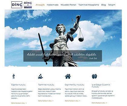 Avukatlık Web Sitesi Tasarımı - Web Mobil Yazılım