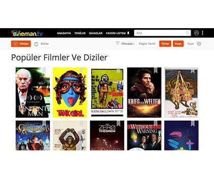 sineman.tv - Uluslararası Sinema Sistemi - Web Mobil Yazılım